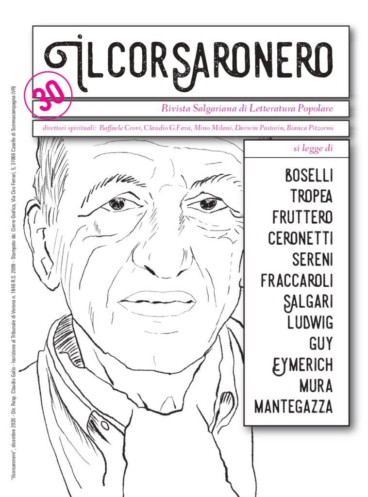Ilcorsaronero. Rivista salgariana di letteratura popolare, copertina numero 30
